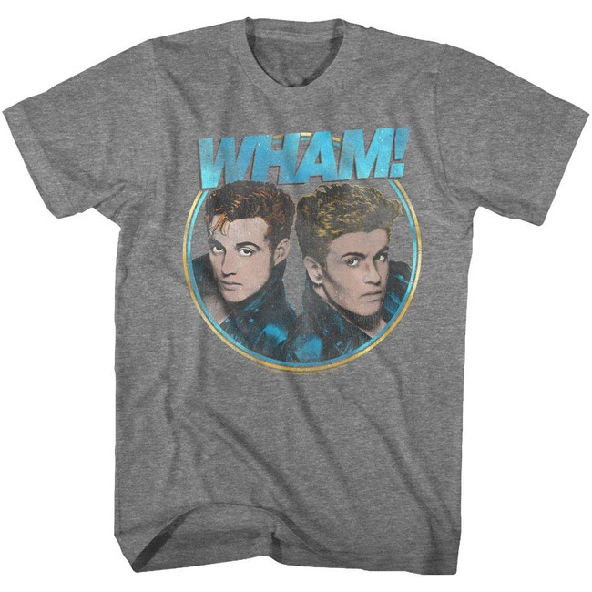 Wham Pretty Circle Graphite Heather Adult T-Shirt