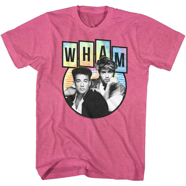 Wham Tidedyepod Retro Pink Heather Adult T-Shirt