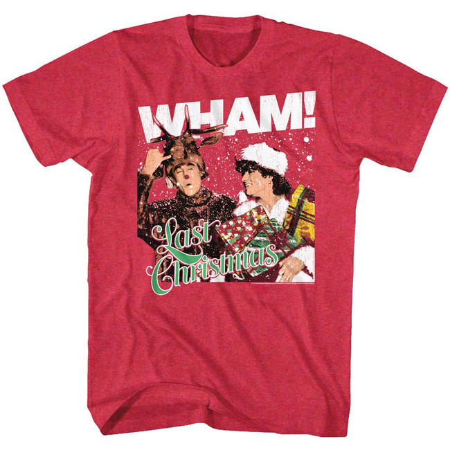 Wham Last Christmas Cherry Heather Adult T-Shirt