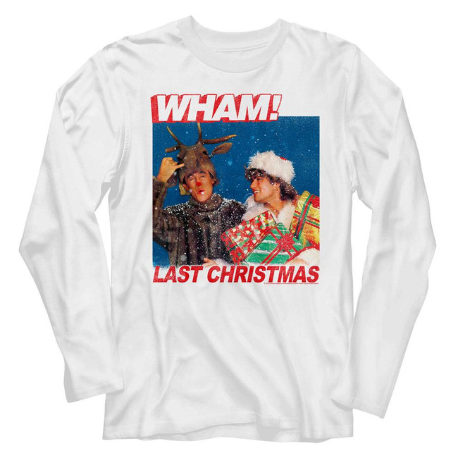 Wham Last Christmas Lyrics White Adult Long Sleeve T-Shirt