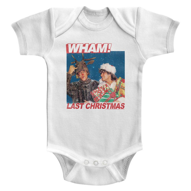 Wham Last Christmas Lyrics White Infant Baby Onesie T-Shirt