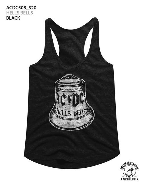 AC/DC Hells Bells Black Junior Women's Racerback Tank Top T-Shirt