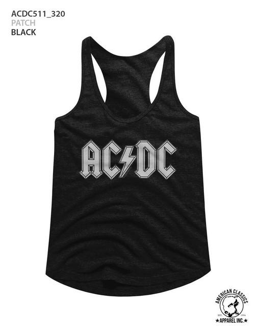 AC/DC Patch Black Junior Women's Racerback Tank Top T-Shirt