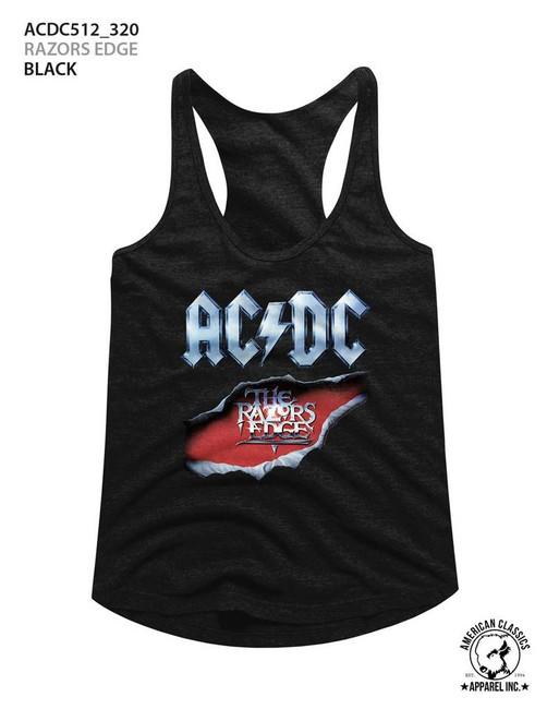 AC/DC Razor's Edge Black Junior Women's Racerback Tank Top T-Shirt