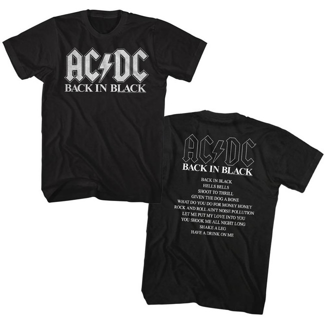 AC/DC Back In Black Album Adult T-Shirt