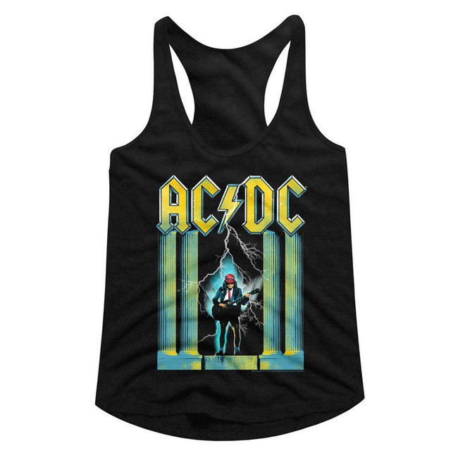 AC/DC Black Junior Women's Racerback Tank Top T-Shirt