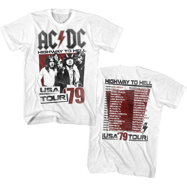 AC/DC Highway To Hell Tour Adult T-Shirt