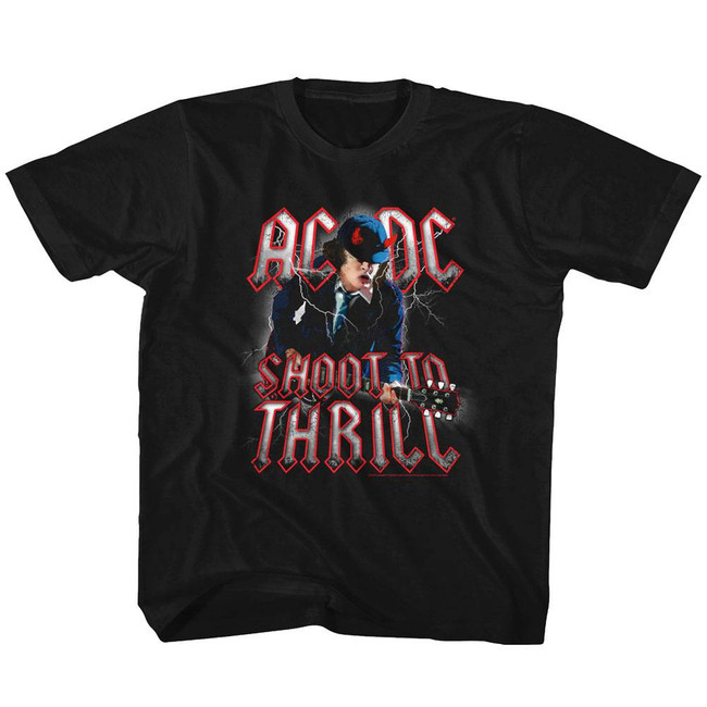 AC/DC Shoot To Thrill Black Toddler T-Shirt