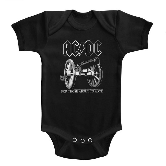 AC/DC About To Rock Black Baby Onesie T-Shirt