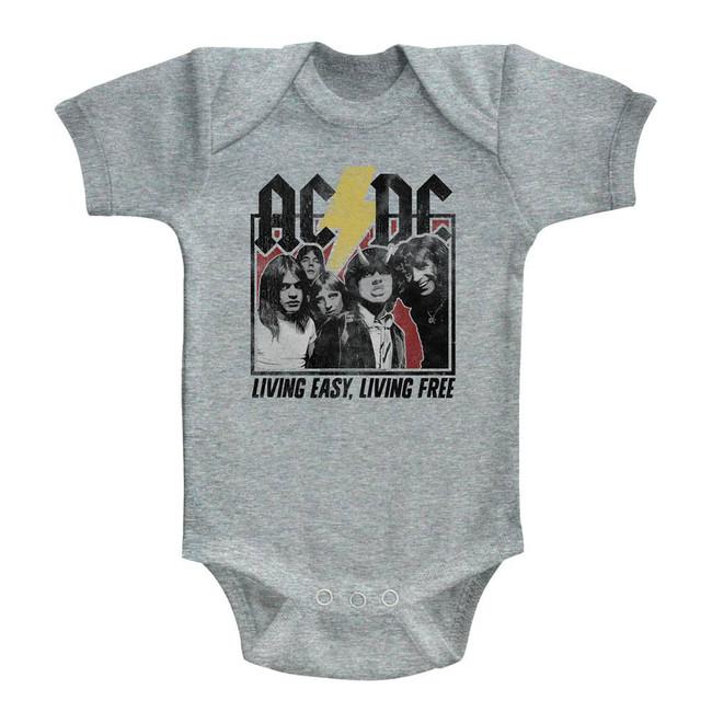 AC/DC Highway To Hell Lyrics Heather Baby Onesie T-Shirt