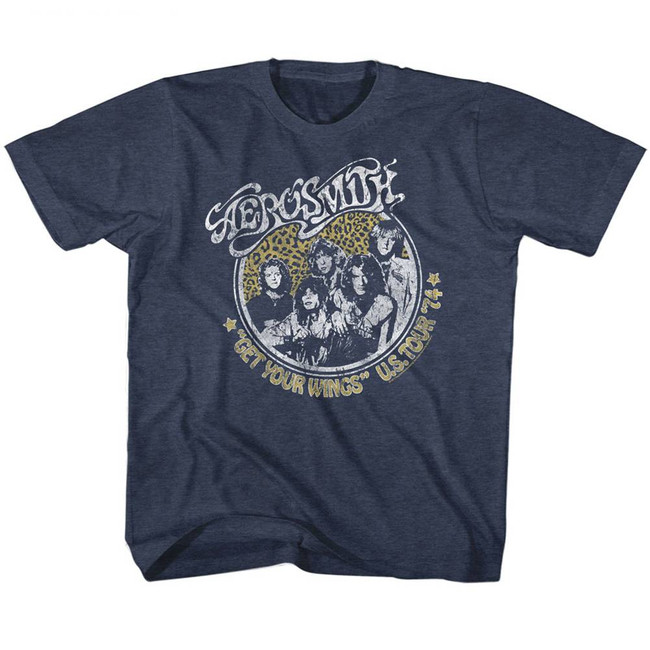 Aerosmith Get Your Wings Vintage Navy Children's T-Shirt