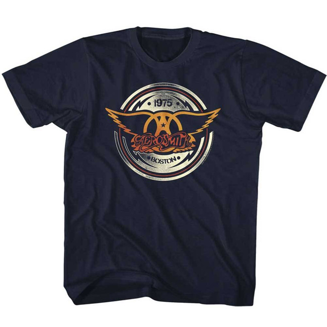 Aerosmith Aerocircle Navy Children's T-Shirt