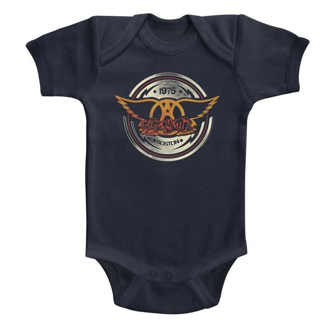 Aerosmith Aerocircle Navy Infant Baby Onesie T-Shirt
