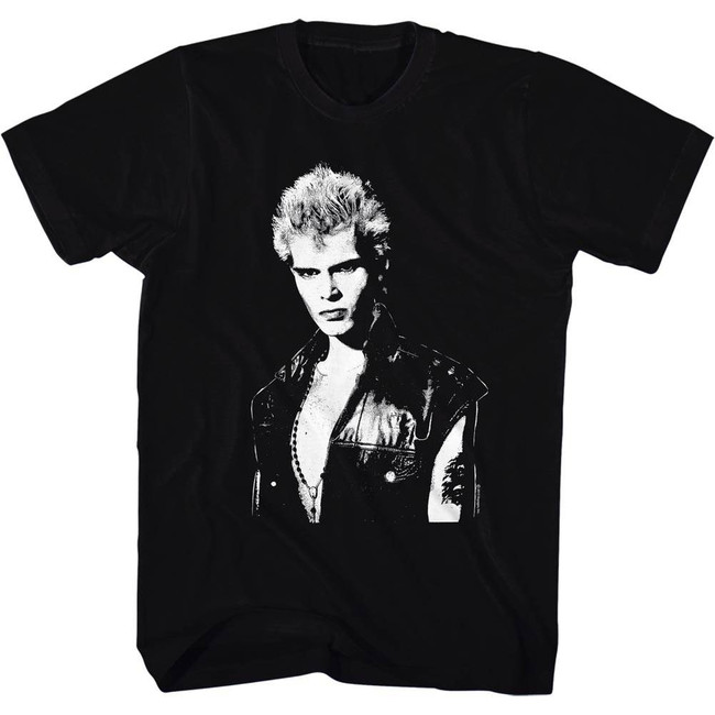 Billy Idol Black Adult T-Shirt