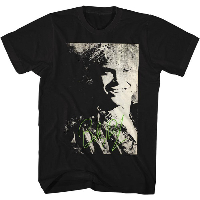 Billy Idol Photo Black Adult T-Shirt