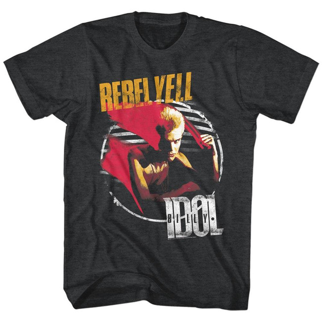 Billy Idol Rebel Yell Heather Adult T-Shirt