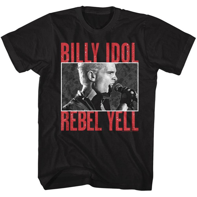 Billy Idol Rebel Yell Black Adult T-Shirt
