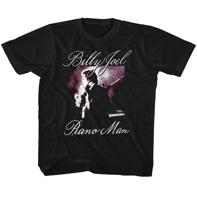 Billy Joel Piano Man Black Youth T-Shirt