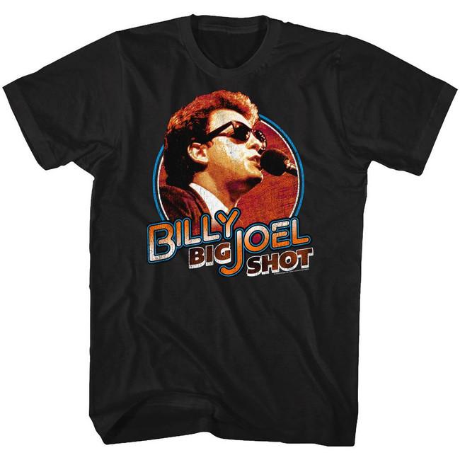 Billy Joel Big Shot Black Adult T-Shirt