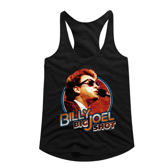 Billy Joel Big Shot Black Junior Women's Racerback Tank Top T-Shirt