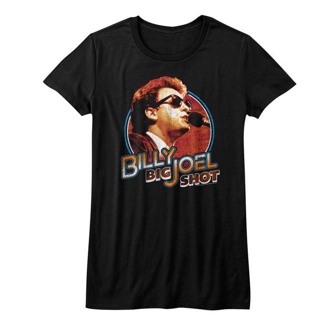 Billy Joel Big Shot Black Junior Women's T-Shirt