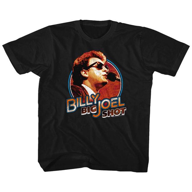 Billy Joel Big Shot Black Youth T-Shirt