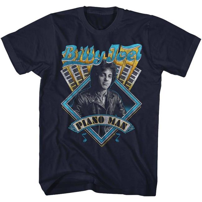 Billy Joel Navy Adult T-Shirt