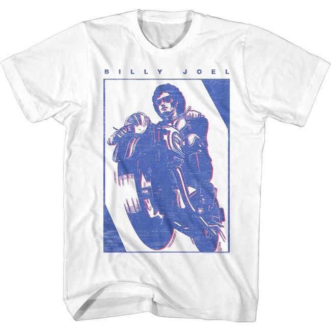 Billy Joel White Adult T-Shirt