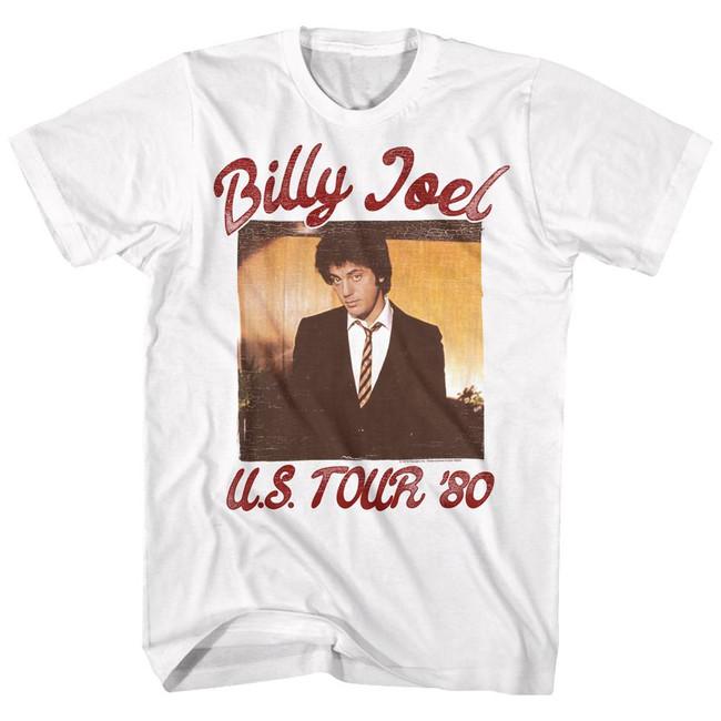 Billy Joel '81 Tour White Adult T-Shirt