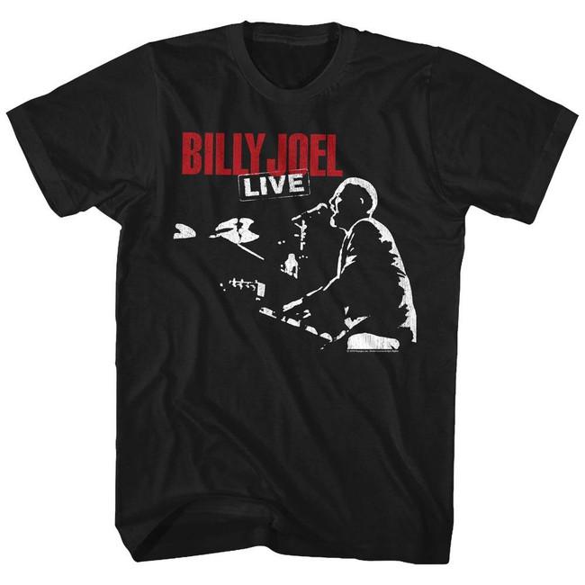 Billy Joel '81 Tour Black Adult T-Shirt