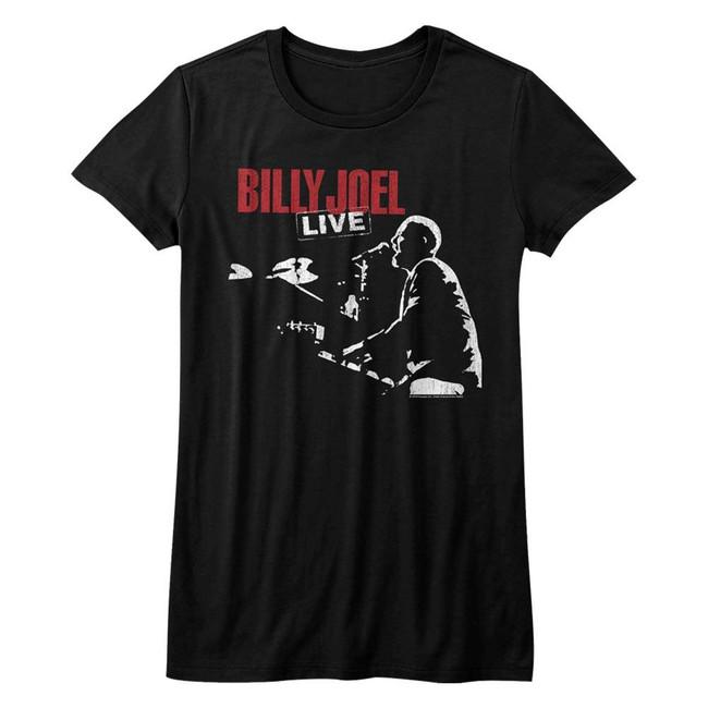 Billy Joel '81 Tour Black Junior Women's T-Shirt