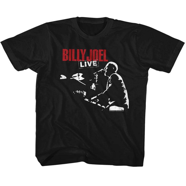 Billy Joel '81 Tour Black Toddler T-Shirt