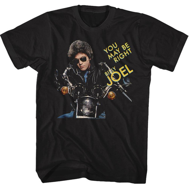 Billy Joel You May Be Right Black Adult T-Shirt