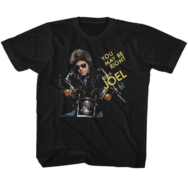 Billy Joel You May Be Right Black Youth T-Shirt
