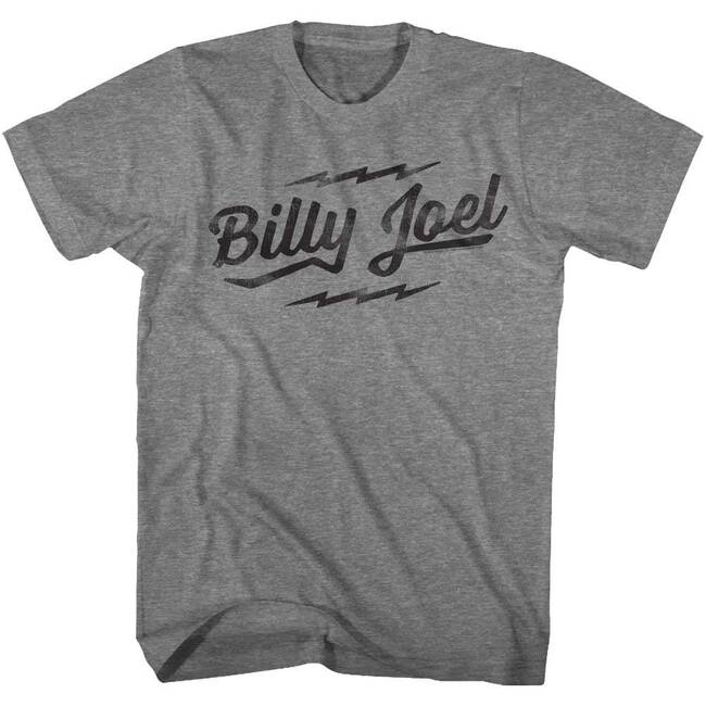 Billy Joel Logo Heather Adult T-Shirt