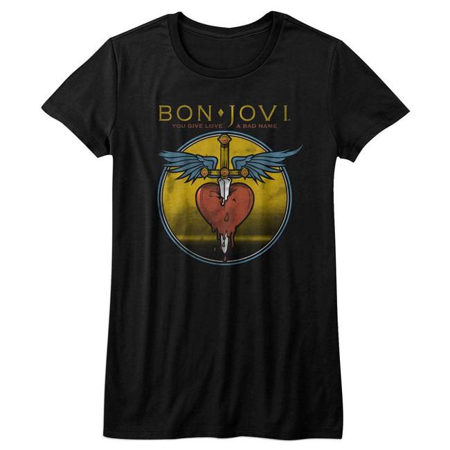 Bon Jovi Bad Name Black Junior Women's T-Shirt