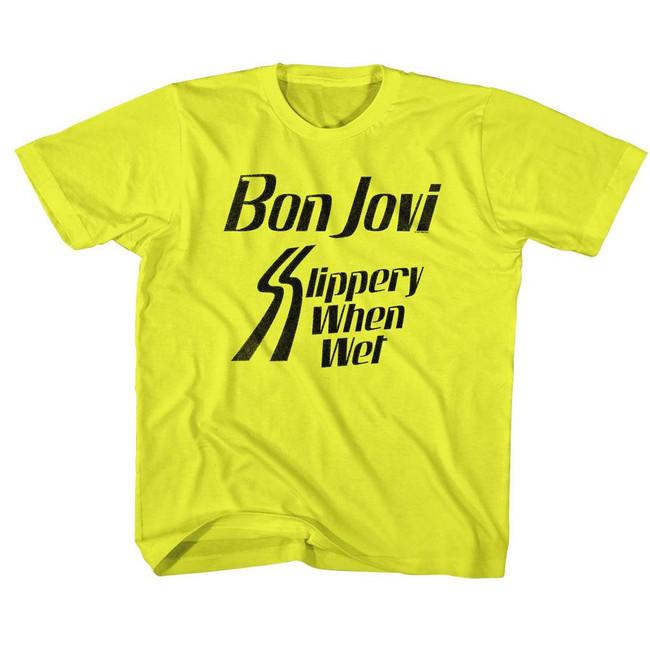 Bon Jovi Slippery When Wet Yellow Children's T-Shirt