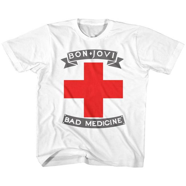 Bon Jovi Bad Medicine White Children's T-Shirt