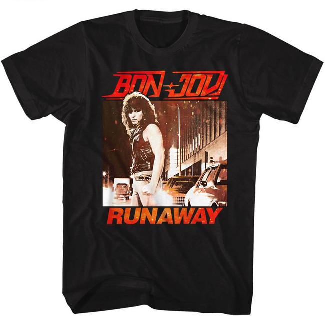 Bon Jovi Runaway Black Adult T-Shirt
