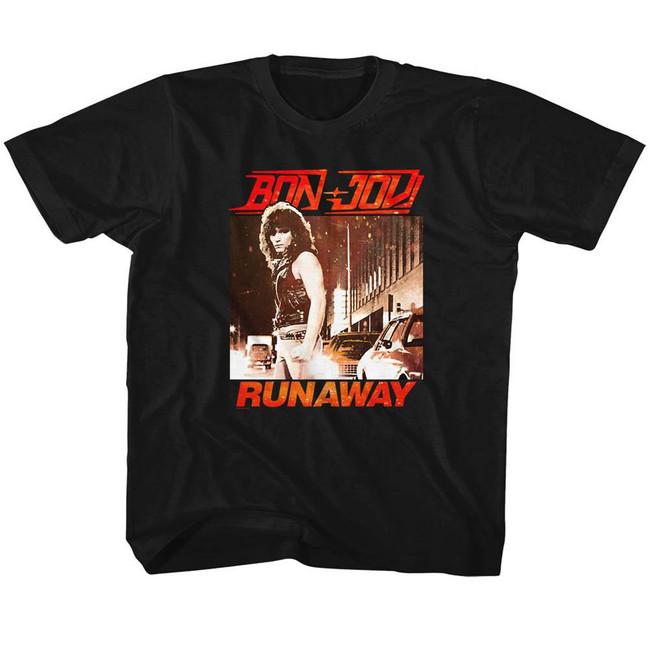 Bon Jovi Runaway Black Children's T-Shirt