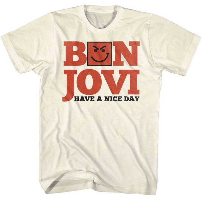Bon Jovi Have A Nice Day Natural Adult T-Shirt