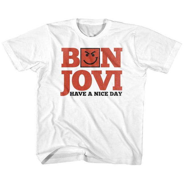 Bon Jovi Have A Nice Day White Children's T-Shirt