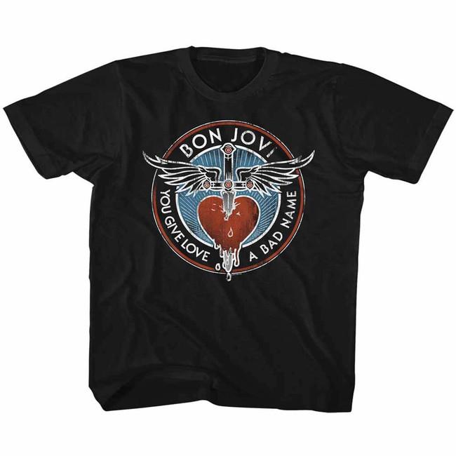 Bon Jovi Bad Name Dagger Black Children's T-Shirt