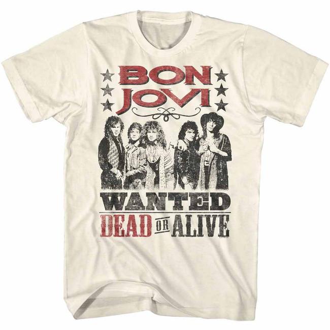 Bon Jovi Dead Or Alive Photo Natural Adult T-Shirt