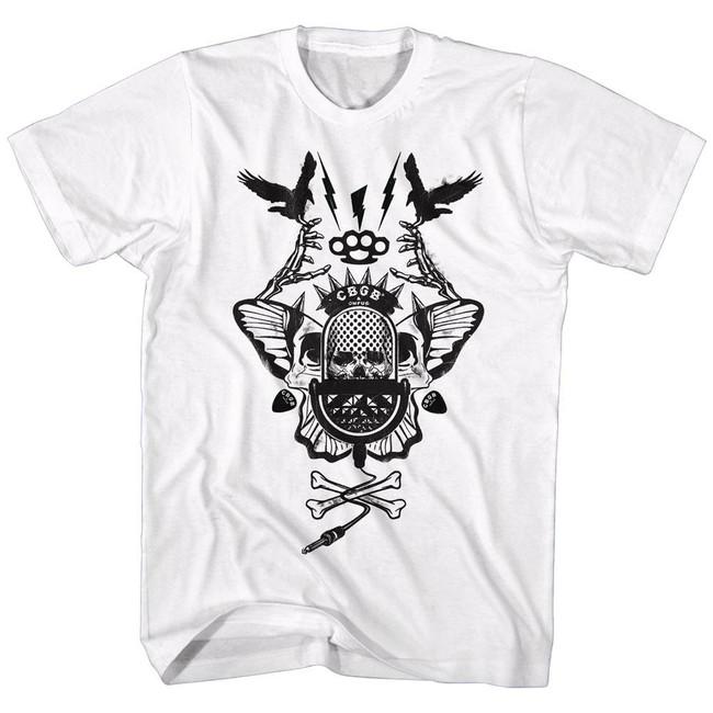 CBGB Crossbones White Adult T-Shirt
