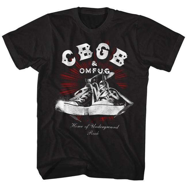 CBGB Chucks Black Adult T-Shirt