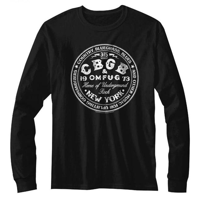 CBGB Circle Black Adult Long Sleeve T-Shirt