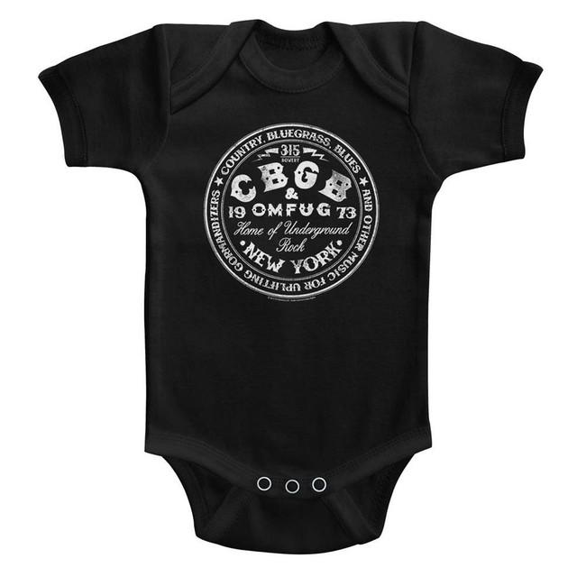 CBGB Circle Black Baby Onesie T-Shirt