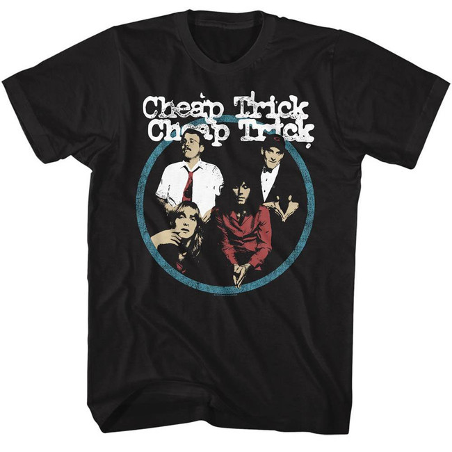 Cheap Trick Band Black Adult T-Shirt