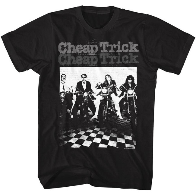 Cheap Trick Moto Black Adult T-Shirt